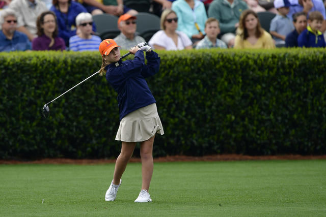 Louisiana's Ava McGoey Competes in Drive, Chip and Putt National Finals