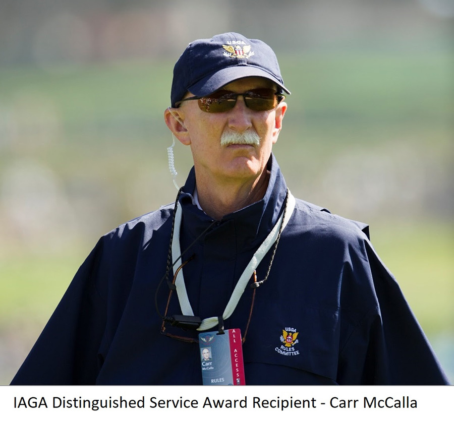 CARR MCCALLA MOVED BY RECEIVING IAGA DISTINGUISHED SERVICE AWARD