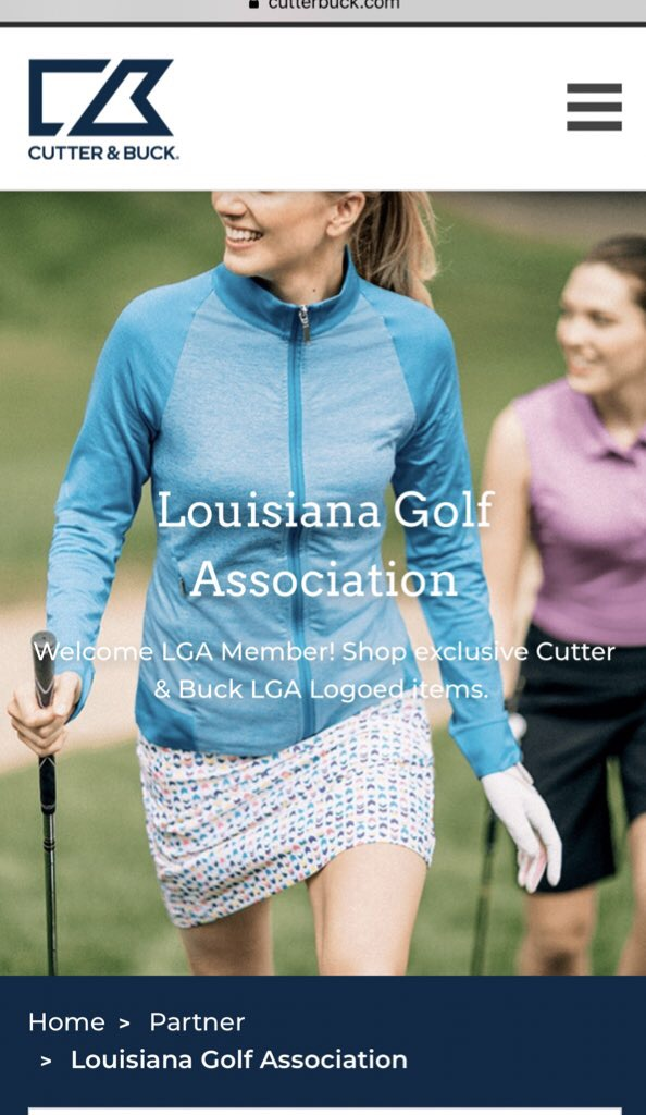 LOUISIANA GOLF ASSOCIATION PARTNERS WITH CUTTER & BUCK